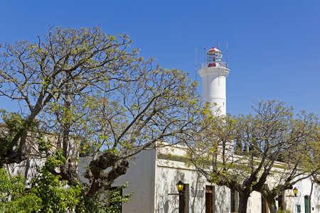 colonia del sacramento: Old beacon in Colonia  Lighthouse in Colonia del Sacramento, small colonial town, Uruguay