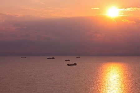 bulgaria: Ships in the Black Sea  Balchik, near Varna, Bulgaria