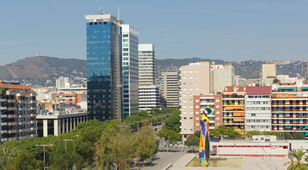 mujer: View of Barcelona, Spain