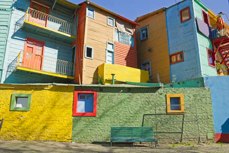 la boca: Caminito, a traditional alley, of great cultural and tourism, in the district of La Boca in Buenos Aires, Argentina  Stock Photo