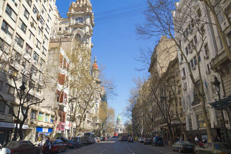 corrientes: BUENOS AIRES - SEP 13: May Avenue on Sept 13, 2012 in Buenos Aires, Argentina. Street connects the pink house with the Congress, the political axis of the city. Editorial