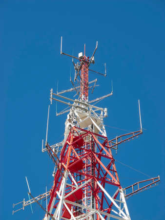 Huge complex of telecommunication antenna photo