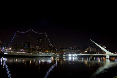 Puerto Madero by night, Buenos Aires photo