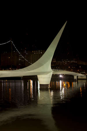 Woman Bridge on Puerto Madero, Buenos Aires, Argentina photo