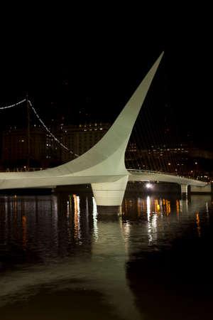 sarmiento: Woman Bridge on Puerto Madero, Buenos Aires, Argentina