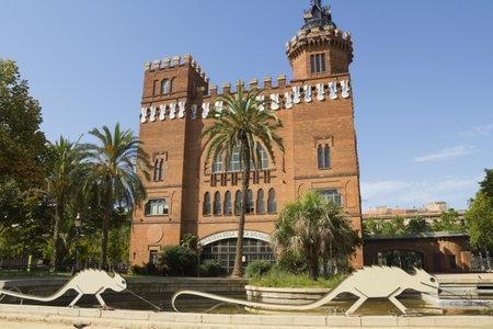 tres: Castell dels tres dragons, in Ciutadella Park, built in 1887. Barcelona, catalonia, Spain.