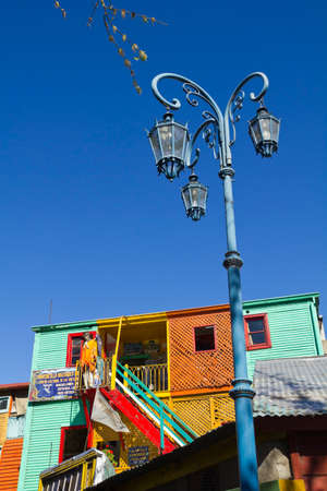 la boca: Caminito, a traditional alley, of great cultural and tourism, in the district of La Boca in Buenos Aires, Argentina.  Editorial