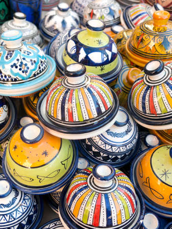 spanish ethnicity: Sale of ceramic, typical of Morocco