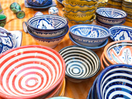 Sale of ceramic, typical of Morocco  photo