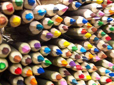 Colored pencils sale in San Telmo Market, Buenos Aires, Argentina  photo