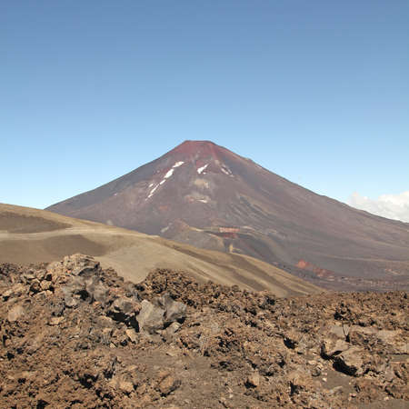 Lonquimay volcano, in Malalcahuello and Nalcas National Park, Chile photo