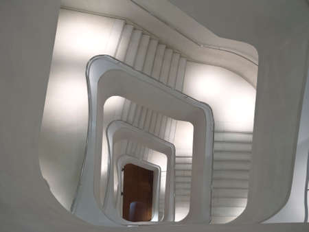 Stairs and modern design. zenithal vision photo