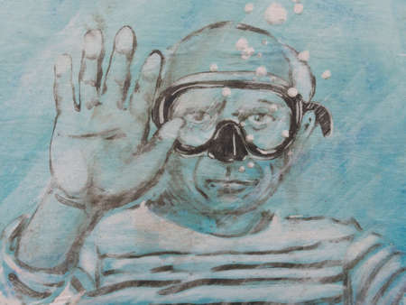 xx century: CADAQUES - MAY 31: Humorous tribute to Pablo Picasso on May 31, 2014 in Cadaques, Spain. The painter is considered one of the greatest artistic of the XX century.