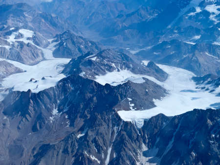 argentinean: Range of the Andes between Argentina and Chile. Aerial Photography.