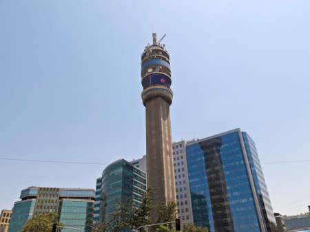 southamerica: The Entel Tower in Santiago de Chile, Chile, Southamerica