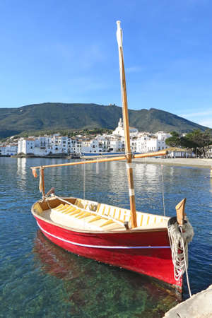 Mediterranean fishing boat. Cadaques in Costa Brava of Catalonia, Spain. photo