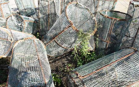 redes de pesca: Las redes de pesca. Cadaqu�s en Costa Brava de Catalu�a, Espa�a.