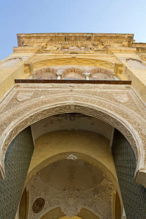 architectural exteriors: Entrance Arabic arch. Cathedral-Mosque of Cordoba, Andalusia, Spain