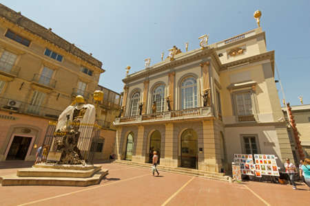 salvador dali: FIGUERES, SPAIN - JUNE 14: Dali Museum in Figueres, Spain on June 14, 2012. Museum was opened on September 28, 1974 and houses largest collection of works by Salvador Dali. Editorial
