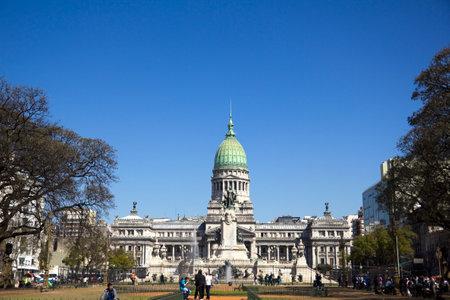 monument: Congress square monument in Buenos Aires, Argentina Editorial