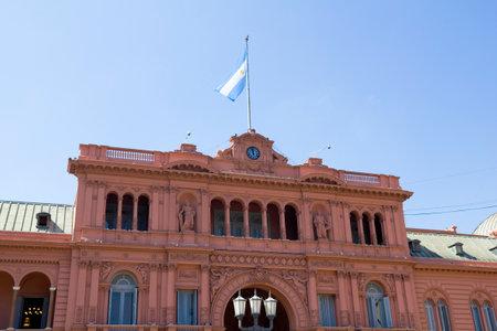 Casa Rosada (Pink House) Presidential Palace of Argentina. May Square, Buenos Aires. Editorial