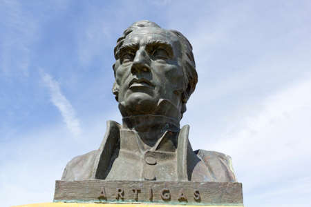 artigas: Statue of General Artigas, hero of the independence of the Republic of Uruguay. Editorial