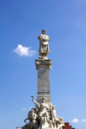 descubridor: monumento de Colón. Buenos Aires, Artentina