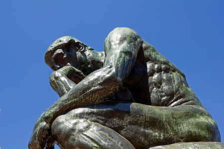 the thinker: The Thinker by Rodin-second cast in the original cast and signed by Rodin himself. Buenos Aires, Argentina