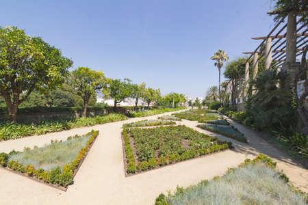 montjuic: View of Teatre Grec garden, in Montjuic mountain Barcelona Spain
