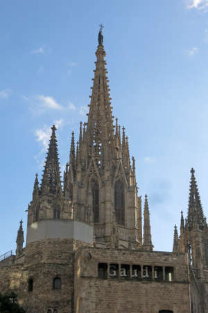 buttresses: Cathedral of the Holy Cross and Saint Eulalia Barcelona