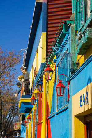 la: Caminito, a traditional alley, of great cultural and tourism, in the district of La Boca in Buenos Aires, Argentina.