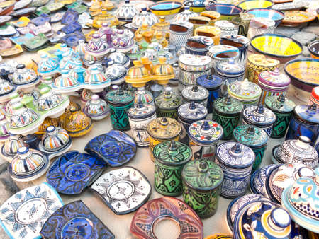 souvenir: Sale of ceramic, typical of Morocco.