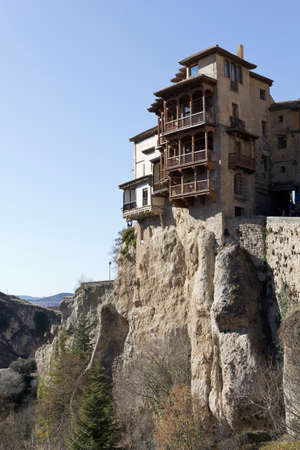 translated: The Casas Colgadas (translated as Hanging Houses), also known as Casas Voladas, Casas del Rey and, erroneusly, Casas Colgantes, is a complex of civil houses located in Cuenca, Spain. Editorial