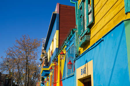 la boca: Caminito, a traditional alley, of great cultural and tourism, in the district of La Boca in Buenos Aires, Argentina.