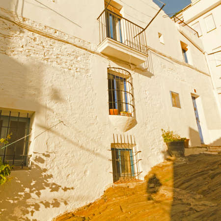 costa brava: White house, typical of the Mediterranean. Costa Brava, Catalonia, Spain
