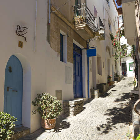 alley: Mediterranean alley. Costa Brava, Catalonia, Spain.