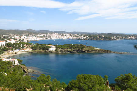 costa brava: he Village of cadaques, Costa Brava, Catalonia, Spain. Stock Photo