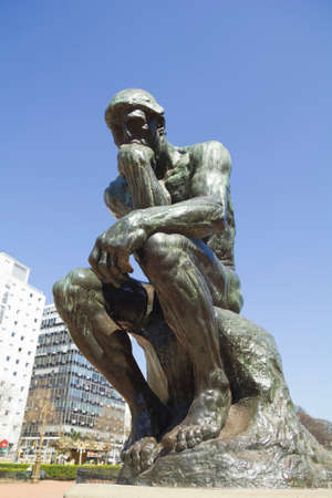 exterior shape: The Thinker by Rodin-second cast in the original cast and signed by Rodin himself. Buenos Aires, Argentina