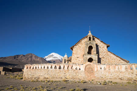 Church in the Sajama National Park, Bolivia Stock Photo