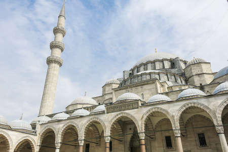 suleyman: The Suleymaniye Mosque is the largest mosque in the city, and one of the best-known sights of Istanbul. Stock Photo