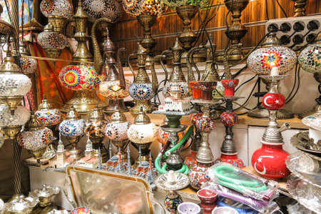 grand sale: craft and Household Products in the Exterior Grand Bazaar in Istanbul Stock Photo
