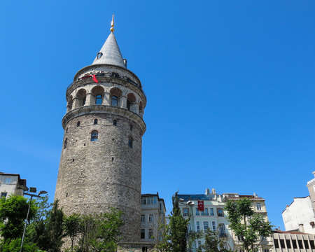 ISTANBUL, TURKEY - MAY 20, 2016 - tourists in galata tower in Istanbul, Turkey. More than 32 million tourists visit Turkey each year.