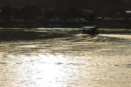 la paz: Boats on Beni river, Rurrenabaque, Bolivia. Beni and La Paz Region