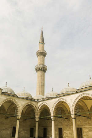 The Suleymaniye Mosque is the largest mosque in the city, and one of the best-known sights of Istanbul. Stock Photo