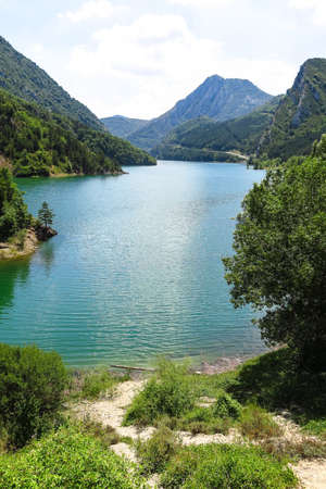 ecosystems: the Escales lagoon, in the Catalan Pyrenees, Spain
