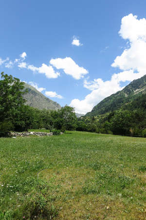 view inside the Aiguestortes National Park in the Catalan Pyrenees, Spain Stock Photo