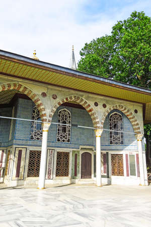 View towards Baghdad Kiosk situated in the Topkapi Palace in Istanbul, Turkey. Editorial