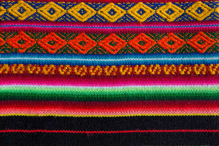 cultural clothing: Traditional andean tapestry from northern Argentina and Bolivia.