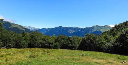 aran: Panorama to Aran valley in the Catalan Pyrenees, Spain