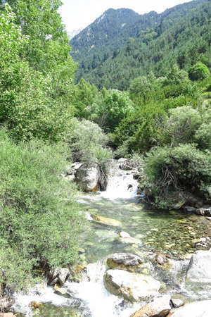 Sant Nicolau river inside the Aiguestortes National Park in the Catalan Pyrenees, Spain